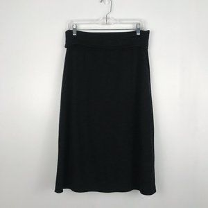 Max Studio Charcoal Grey Terry Cloth Skirt